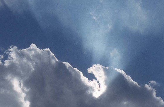 Like clouds parting, spiritual guidance  gives you clarity and perspective.